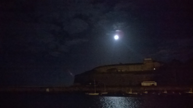 Full Moon over Weymouth Defenses